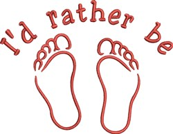 Rather Be Feet embroidery design