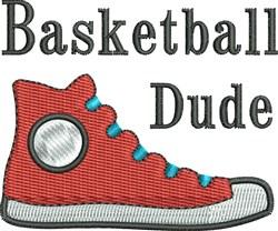 Basketball Dude Shoe embroidery design