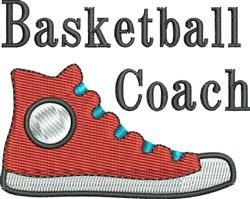 Basketball Coach Shoe embroidery design
