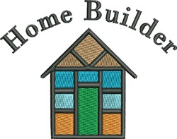 Home Builder House embroidery design