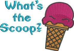 Scoop Ice Cream embroidery design