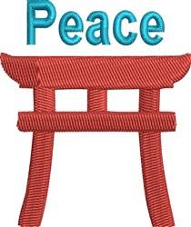 Torii Gate Peace embroidery design