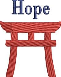 Torii Gate Hope embroidery design
