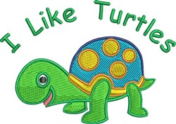 Like Turtles embroidery design