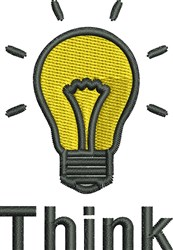 Light Bulb Think embroidery design