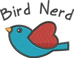 Bird Nerd embroidery design
