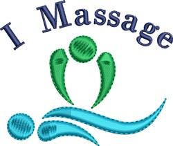 I Massage embroidery design