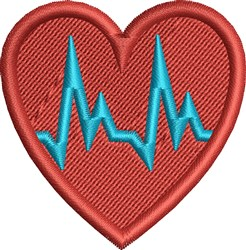 Medical Heart embroidery design
