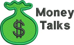 Money Talks embroidery design