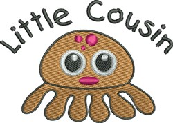Octopus Cousin embroidery design