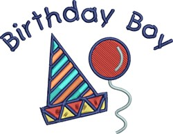 Birthday Boy Hat embroidery design