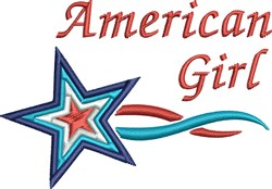 American Girl Star embroidery design