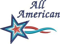 All American Star embroidery design