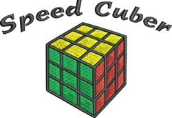 Speed Cuber embroidery design