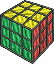 Rubiks Cube embroidery design