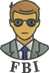 FBI Agent embroidery design
