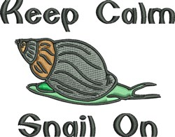 Snail On embroidery design