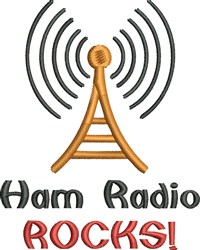 Ham Radio Rocks embroidery design