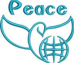 World Peace Dove embroidery design