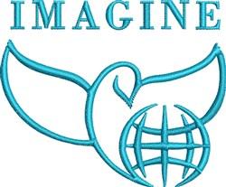 Imagine Peace embroidery design