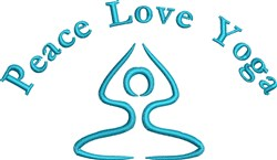Peace Love Yoga embroidery design