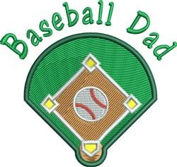 Baseball Dad embroidery design