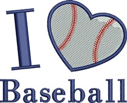 I Heart Baseball embroidery design