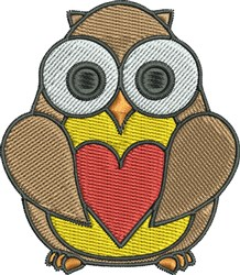 Love Owl embroidery design