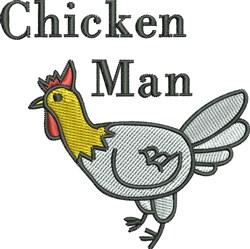Chicken Man embroidery design