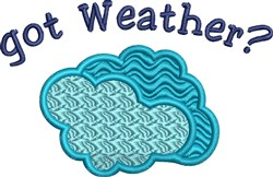 Got Weather embroidery design