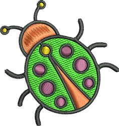 Cute Bug embroidery design