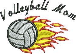 Volleyball Chick embroidery design