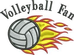 Volleyball Fan embroidery design