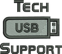 Tech Support embroidery design