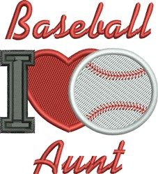Baseball Aunt embroidery design