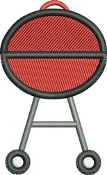 Outdoor Grill embroidery design