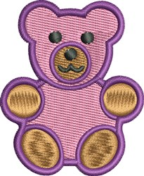 Pink Teddy embroidery design