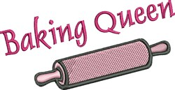 Baking Queen embroidery design