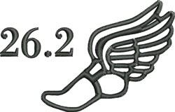 Marathon Outline embroidery design