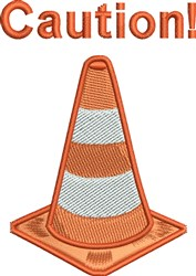 Caution Cone embroidery design
