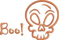 Skull Boo embroidery design
