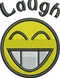 Laugh embroidery design