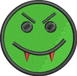 Smiley Vampire embroidery design