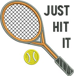 Just Hit It embroidery design
