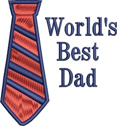 Worlds Best Dad embroidery design