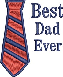 Best Dad Ever embroidery design