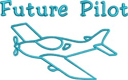 Future Pilot Outline embroidery design