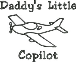 Daddys Little Copilot embroidery design