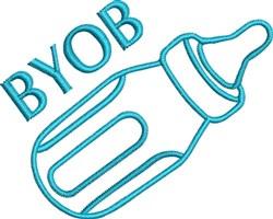BYOB Bottle Outline embroidery design