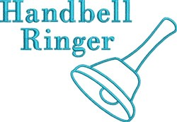 Handbell Ringer embroidery design